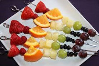 Fruit and veg kebabs