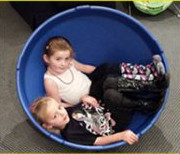 Image of children participating in sensory experience 2